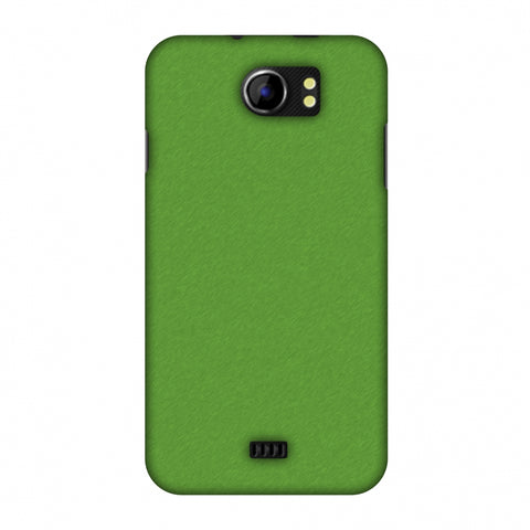 Carbon Fibre Redux Pear Green 15 Slim Hard Shell Case For Micromax Canvas 2 A110