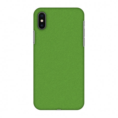 Carbon Fibre Redux Pear Green 15 Slim Hard Shell Case For Apple iPhone X