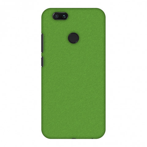 Carbon Fibre Redux Pear Green 15 Slim Hard Shell Case For Xiaomi MI A1-5X