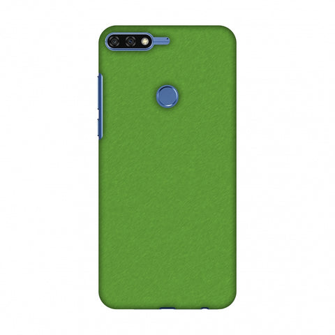 Carbon Fibre Redux Pear Green 15 Slim Hard Shell Case For Huawei Honor 7C