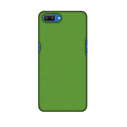 Carbon Fibre Redux Pear Green 15 Slim Hard Shell Case For Oppo Realme C1