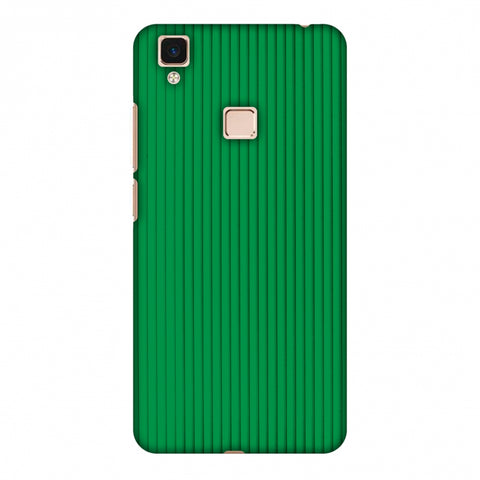 Carbon Fibre Redux Pear Green 16 Slim Hard Shell Case For Vivo V3 Max