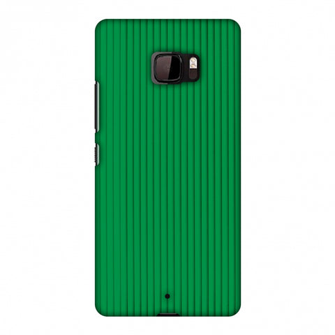 Carbon Fibre Redux Pear Green 16 Slim Hard Shell Case For HTC U Ultra