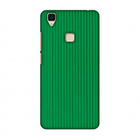 Carbon Fibre Redux Pear Green 16 Slim Hard Shell Case For Vivo V3