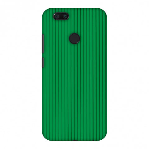 Carbon Fibre Redux Pear Green 16 Slim Hard Shell Case For Xiaomi MI A1-5X