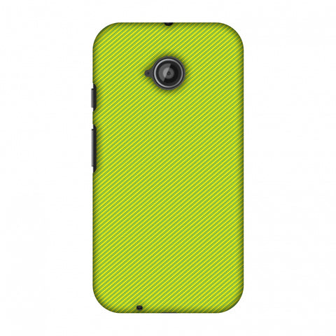 Carbon Fibre Redux Pear Green 17 Slim Hard Shell Case For Motorola Moto E 2nd Gen