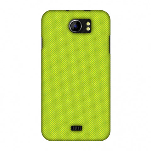 Carbon Fibre Redux Pear Green 17 Slim Hard Shell Case For Micromax Canvas 2 A110