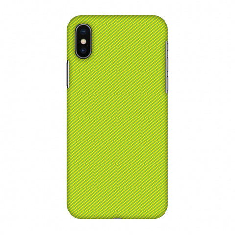 Carbon Fibre Redux Pear Green 17 Slim Hard Shell Case For Apple iPhone X