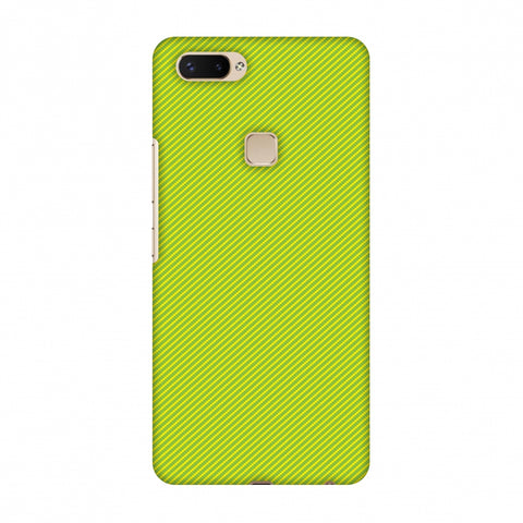 Carbon Fibre Redux Pear Green 17 Slim Hard Shell Case For Vivo X20 Plus