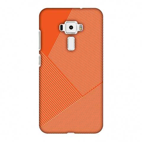 Carbon Fibre Redux Tangy Orange 1 Slim Hard Shell Case For Asus Zenfone 3 ZE520KL