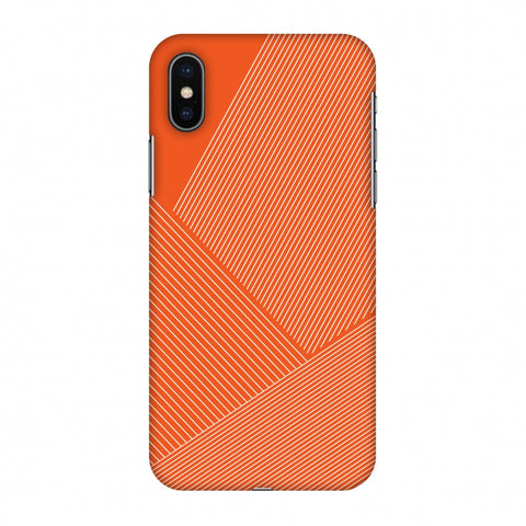 Carbon Fibre Redux Tangy Orange 1 Slim Hard Shell Case For Apple iPhone X