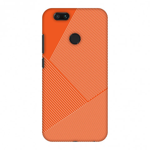 Carbon Fibre Redux Tangy Orange 1 Slim Hard Shell Case For Xiaomi MI A1-5X