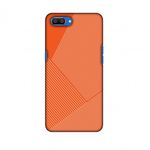Carbon Fibre Redux Tangy Orange 1 Slim Hard Shell Case For Oppo Realme C1