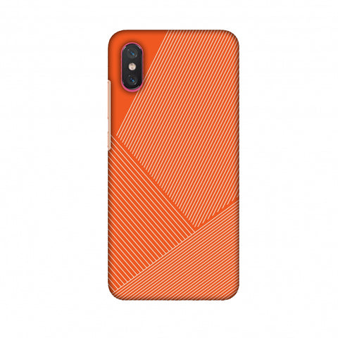 Carbon Fibre Redux Tangy Orange 1 Slim Hard Shell Case For Xiaomi Mi 8 Pro