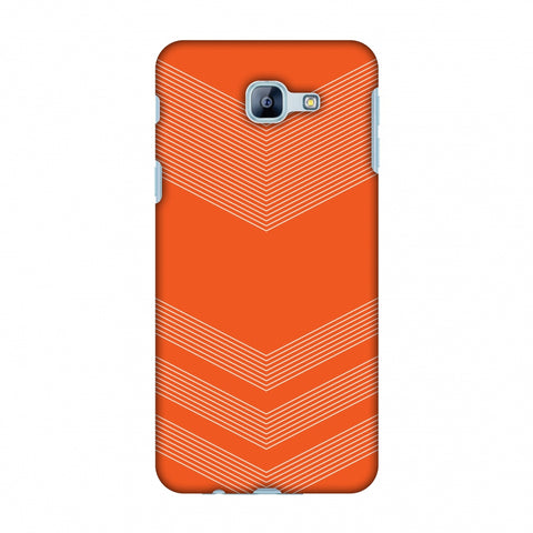 Carbon Fibre Redux Tangy Orange 2 Slim Hard Shell Case For Samsung Galaxy A8 2016