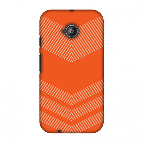 Carbon Fibre Redux Tangy Orange 2 Slim Hard Shell Case For Motorola Moto E 2nd Gen