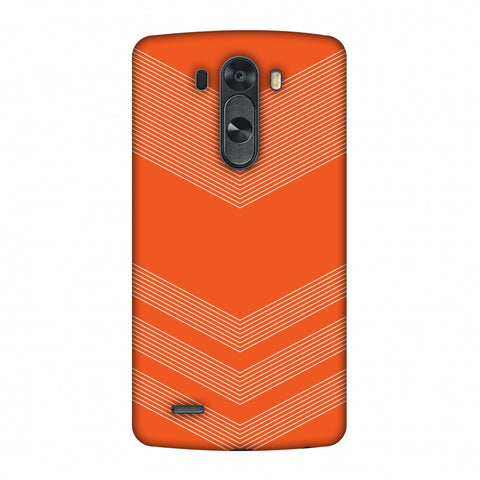 Carbon Fibre Redux Tangy Orange 2 Slim Hard Shell Case For LG G4