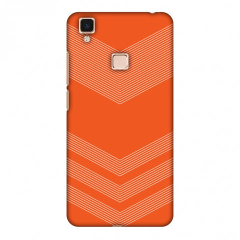 Carbon Fibre Redux Tangy Orange 2 Slim Hard Shell Case For Vivo V3 Max