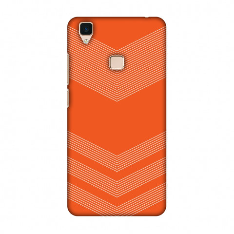 Carbon Fibre Redux Tangy Orange 2 Slim Hard Shell Case For Vivo V3