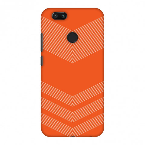 Carbon Fibre Redux Tangy Orange 2 Slim Hard Shell Case For Xiaomi MI A1-5X