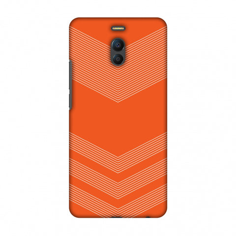 Carbon Fibre Redux Tangy Orange 2 Slim Hard Shell Case For Meizu Note 6