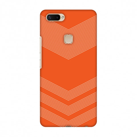 Carbon Fibre Redux Tangy Orange 2 Slim Hard Shell Case For Vivo X20 Plus