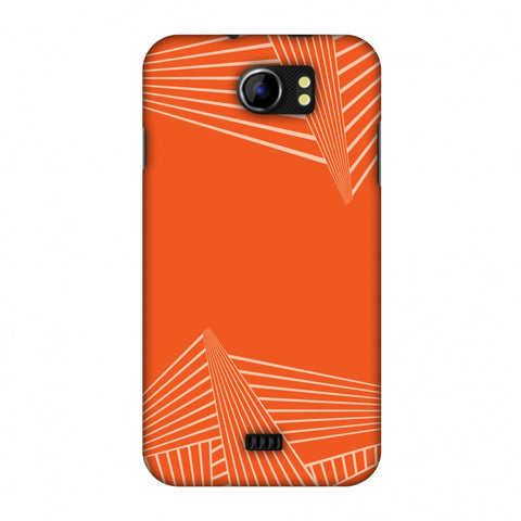 Carbon Fibre Redux Tangy Orange 3 Slim Hard Shell Case For Micromax Canvas 2 A110