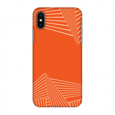 Carbon Fibre Redux Tangy Orange 3 Slim Hard Shell Case For Apple iPhone X