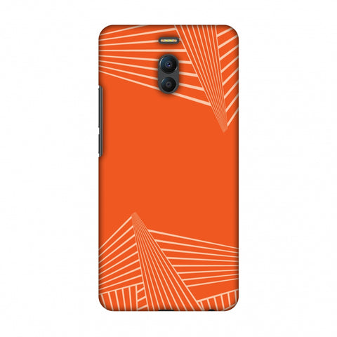 Carbon Fibre Redux Tangy Orange 3 Slim Hard Shell Case For Meizu Note 6