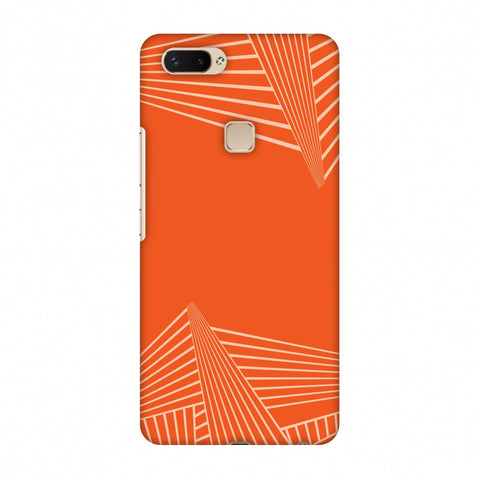 Carbon Fibre Redux Tangy Orange 3 Slim Hard Shell Case For Vivo X20 Plus