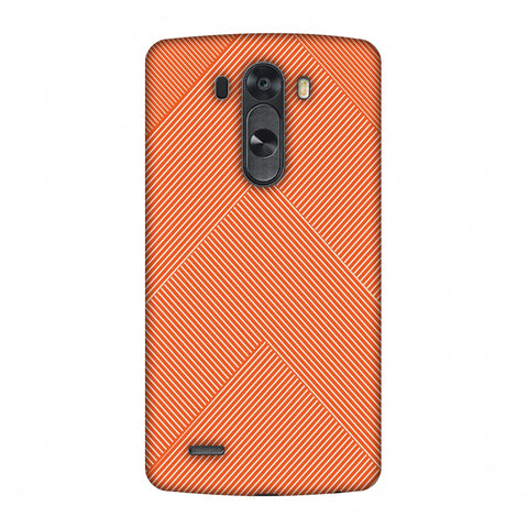Carbon Fibre Redux Tangy Orange 4 Slim Hard Shell Case For LG G4