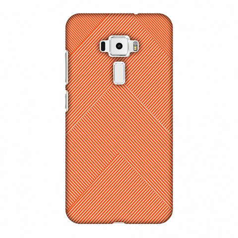 Carbon Fibre Redux Tangy Orange 4 Slim Hard Shell Case For Asus Zenfone 3 ZE520KL