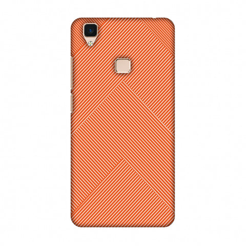 Carbon Fibre Redux Tangy Orange 4 Slim Hard Shell Case For Vivo V3