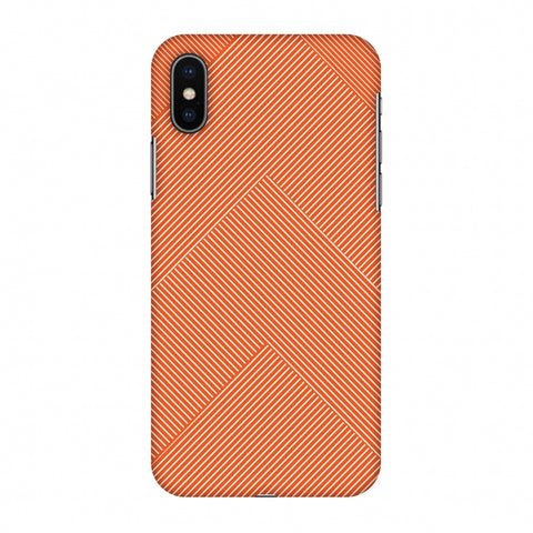 Carbon Fibre Redux Tangy Orange 4 Slim Hard Shell Case For Apple iPhone X