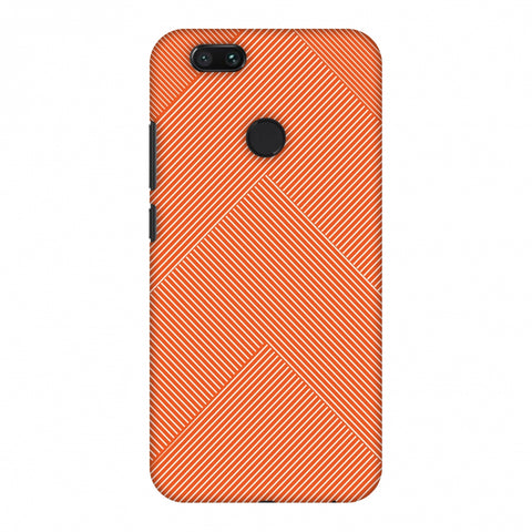 Carbon Fibre Redux Tangy Orange 4 Slim Hard Shell Case For Xiaomi MI A1-5X