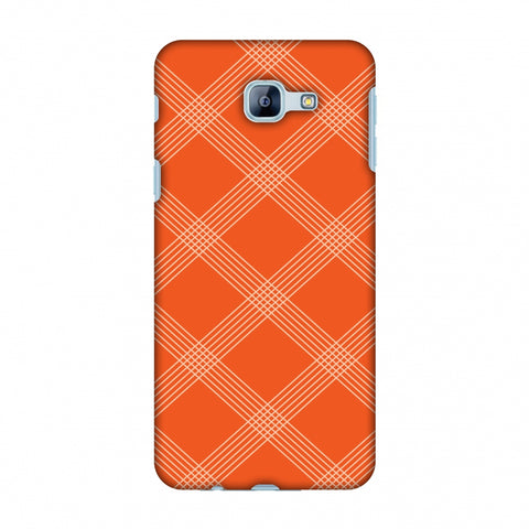 Carbon Fibre Redux Tangy Orange 5 Slim Hard Shell Case For Samsung Galaxy A8 2016
