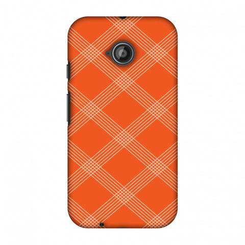 Carbon Fibre Redux Tangy Orange 5 Slim Hard Shell Case For Motorola Moto E 2nd Gen