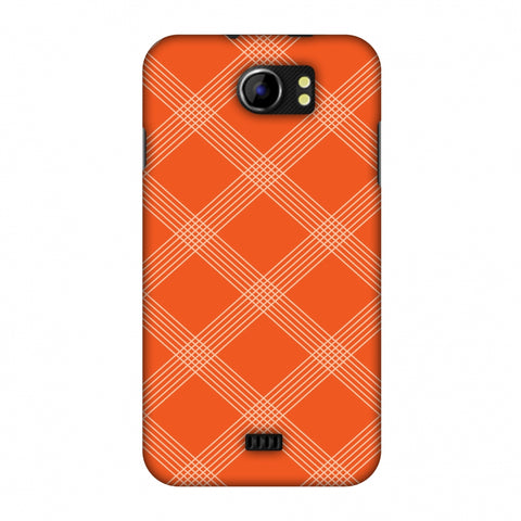 Carbon Fibre Redux Tangy Orange 5 Slim Hard Shell Case For Micromax Canvas 2 A110