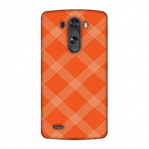 Carbon Fibre Redux Tangy Orange 5 Slim Hard Shell Case For LG G4