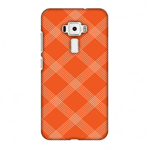 Carbon Fibre Redux Tangy Orange 5 Slim Hard Shell Case For Asus Zenfone 3 ZE520KL