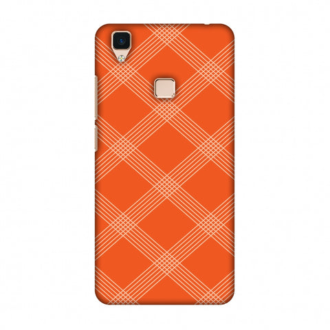 Carbon Fibre Redux Tangy Orange 5 Slim Hard Shell Case For Vivo V3