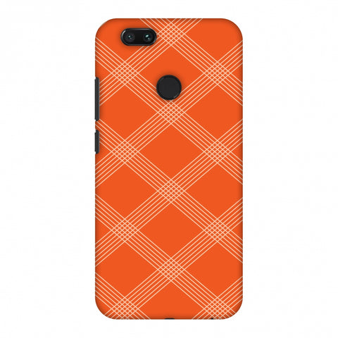 Carbon Fibre Redux Tangy Orange 5 Slim Hard Shell Case For Xiaomi MI A1-5X