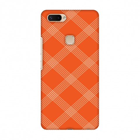 Carbon Fibre Redux Tangy Orange 5 Slim Hard Shell Case For Vivo X20 Plus