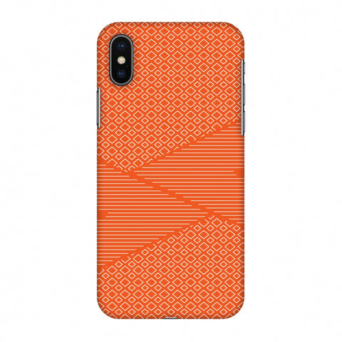 Carbon Fibre Redux Tangy Orange 6 Slim Hard Shell Case For Apple iPhone X