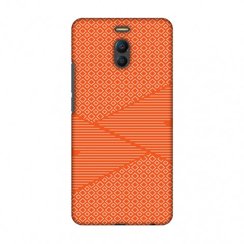 Carbon Fibre Redux Tangy Orange 6 Slim Hard Shell Case For Meizu Note 6