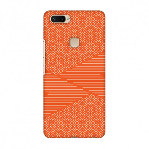 Carbon Fibre Redux Tangy Orange 6 Slim Hard Shell Case For Vivo X20 Plus