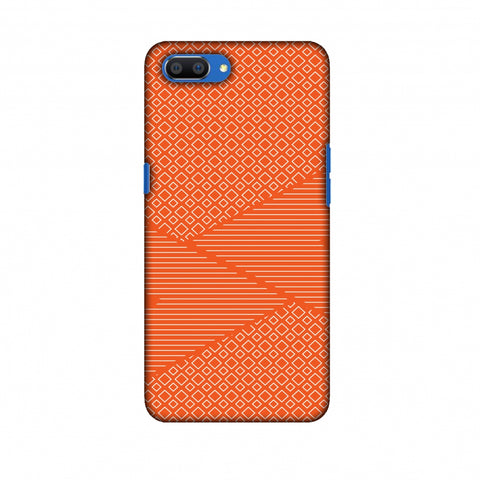 Carbon Fibre Redux Tangy Orange 6 Slim Hard Shell Case For Oppo Realme C1