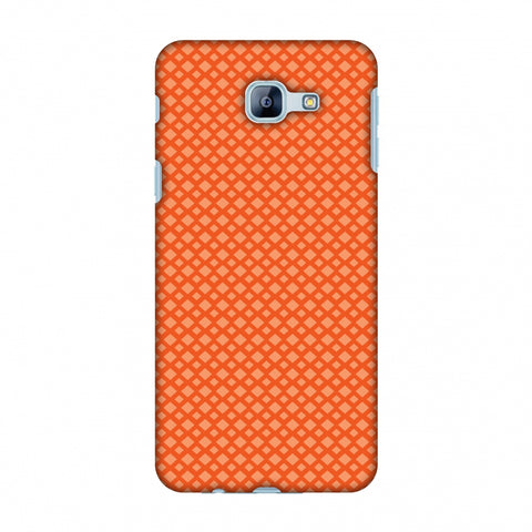 Carbon Fibre Redux Tangy Orange 7 Slim Hard Shell Case For Samsung Galaxy A8 2016