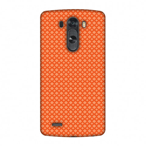 Carbon Fibre Redux Tangy Orange 7 Slim Hard Shell Case For LG G4