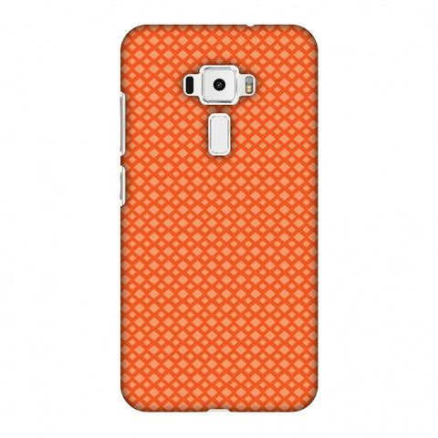 Carbon Fibre Redux Tangy Orange 7 Slim Hard Shell Case For Asus Zenfone 3 ZE520KL